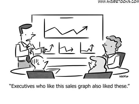 echo chamber business cartoon