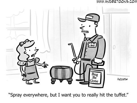 deep cleaning business cartoon