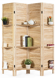 Giantex 4 Panel 5.6 Ft Tall Wood Room Divider