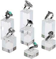 Mooca 7 Pieces Set Clear Acrylic Jewelry Display Stand for Ring