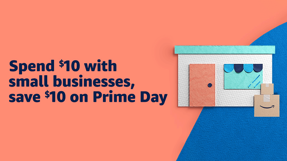 Amazon Promoting Small Business Sellers with $10 Prime Day Credit