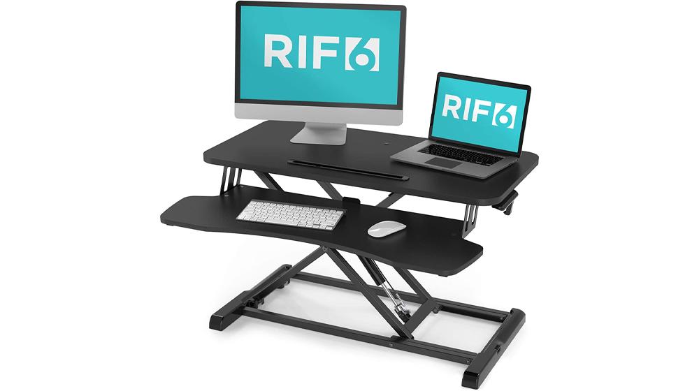 RIF6 Adjustable Height Standing Desk Converter