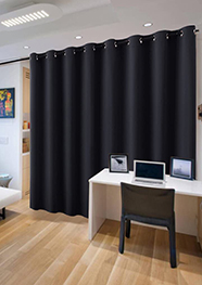 RYB HOME Extra Wide Long Curtain Privacy Office Space Divider Wall Panel
