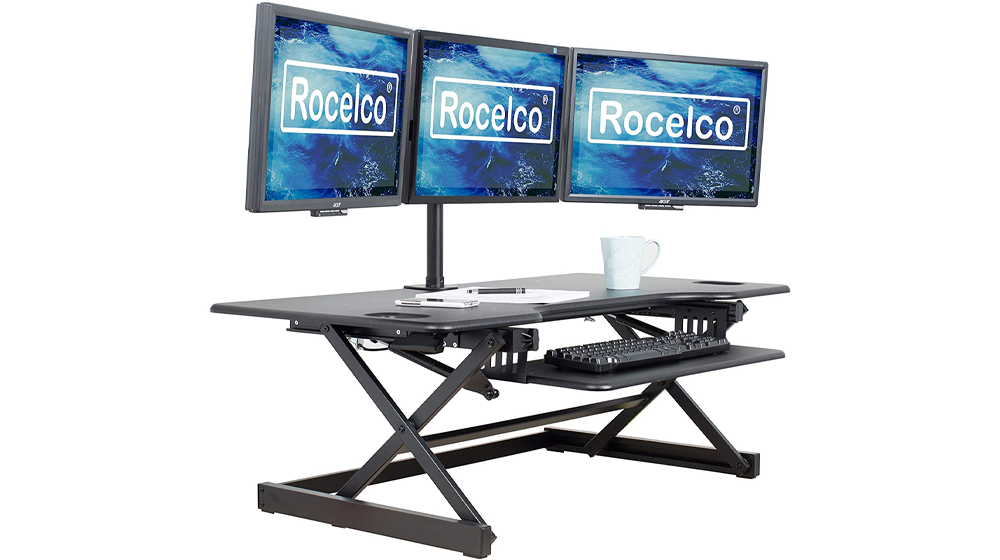Rocelco Height Adjustable Standing Desk Converter