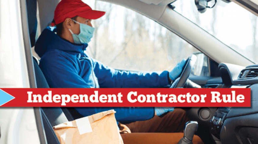 dept of labor independent contractor rule