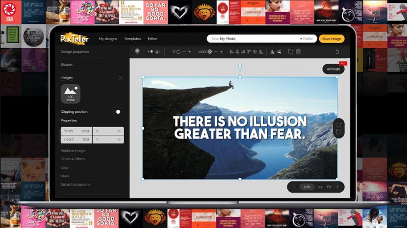 PixTeller: Easy-to-Use Image Creator