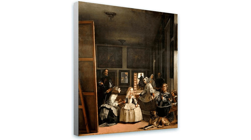 Alonline Art - Las Meninas Maids Of Honour by Diego Velazquez , print on 100% cotton canvas
