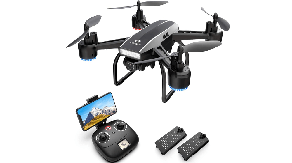 DEERC D50 Drone for Adults with 2K UHD Camera FPV Live Video 120° FOV 4MP