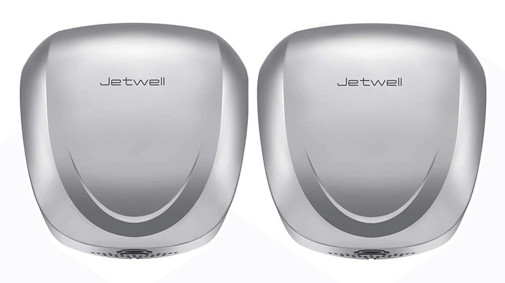 JETWELL 2Pack UL Listed High Speed Commercial Automatic Eco Hand Dryer with HEPA Filter