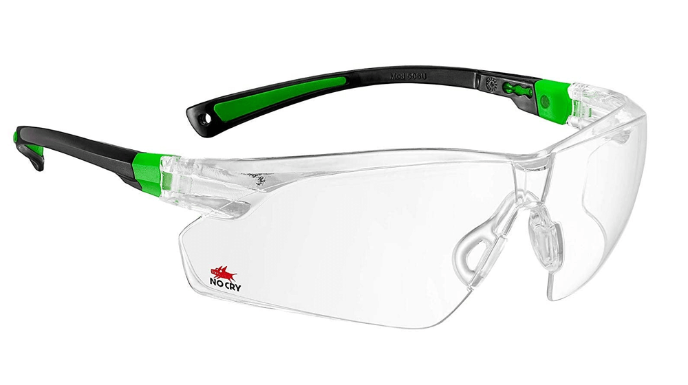 NoCry Safety Glasses with Clear Anti Fog Scratch Resistant Wrap-Around Lenses and No-Slip Grips