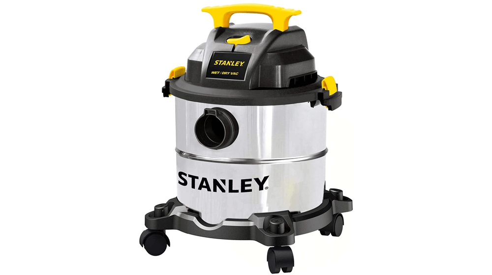 Stanley 5 Gallon Wet Dry Vacuum, 4 Peak HP Stainless Steel 3 in 1 Shop Vac Blower with Powerful Suction