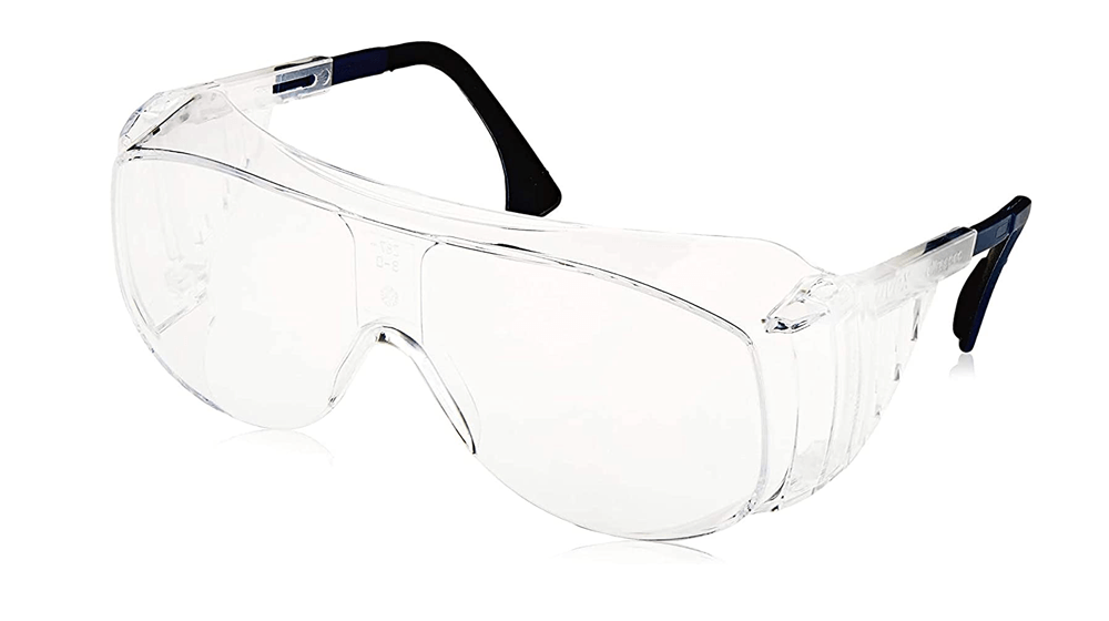 Uvex Ultra-Spec 2001 OTG (Over-the Glass) Visitor Specs Safety Glasses with Clear Uvextreme Anti-Fog Lens