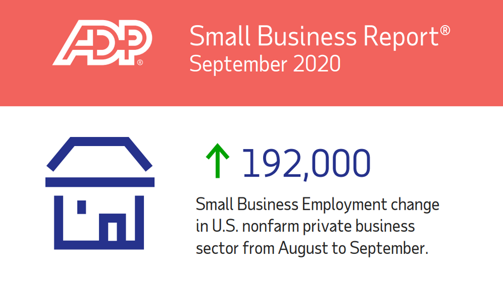 adp small business report septemer 2020