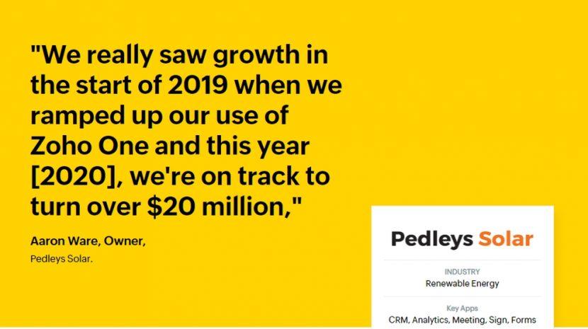 pedleys commercial solar
