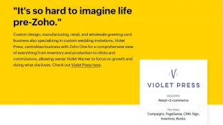 Zoho Integrated Platform Violet Press