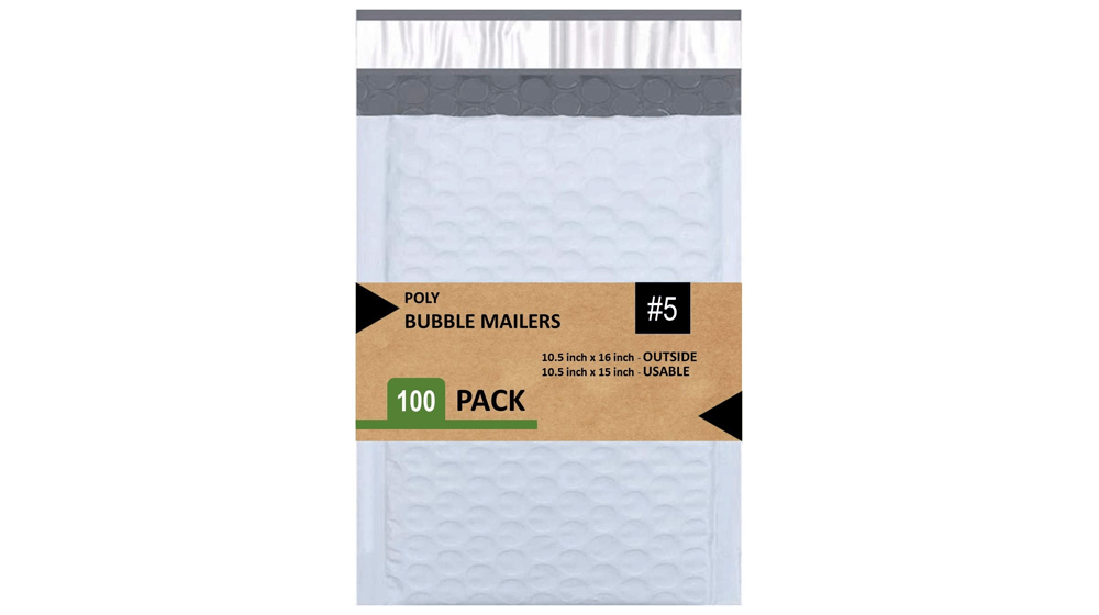 Bubble Mailers 10.5X16 Inches Padded Envelope Mailer Waterproof Pack of 100