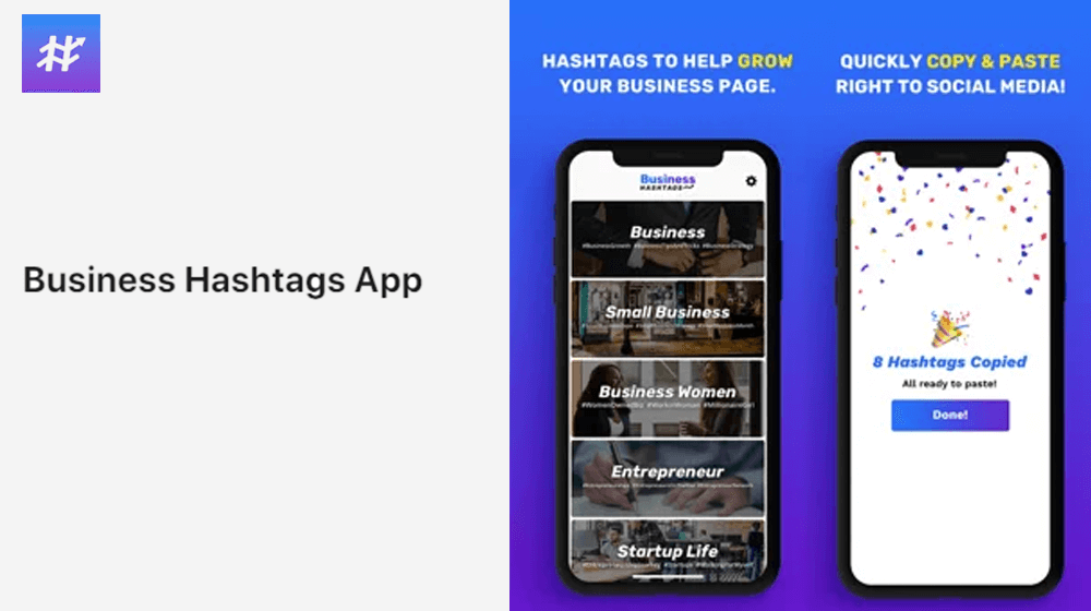 Business Hashtags App