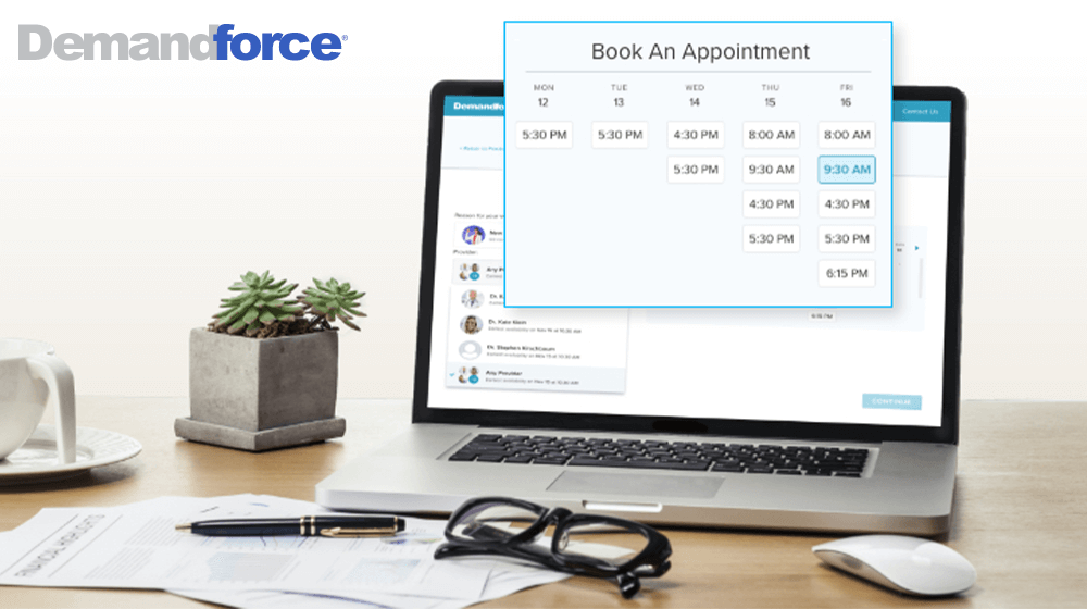 Demandforce Online Booking Allows for 24-7 Appointment Scheduling