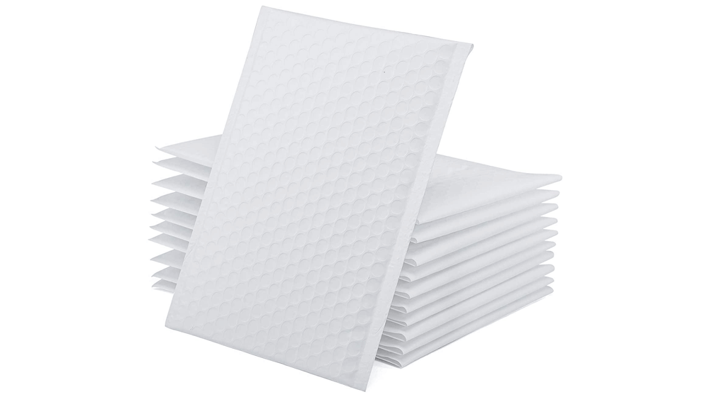GSSUSA White Poly Bubble Mailers 6x10 Padded Envelopes