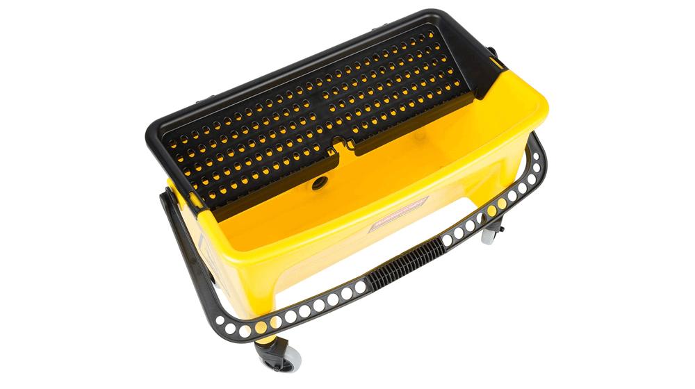 Rubbermaid Commercial HYGEN Q90088YW HYGEN Press Wring Bucket for Microfiber Flat Mops