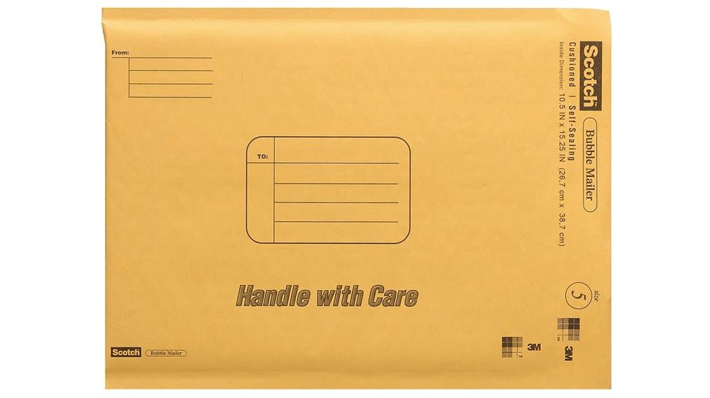 Scotch Bubble Mailer, 10.5 x 15.25-Inches