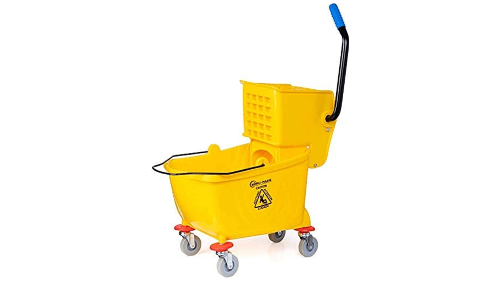 Simpli-Magic 79358 Commercial Mop Bucket with Side Press Wringer