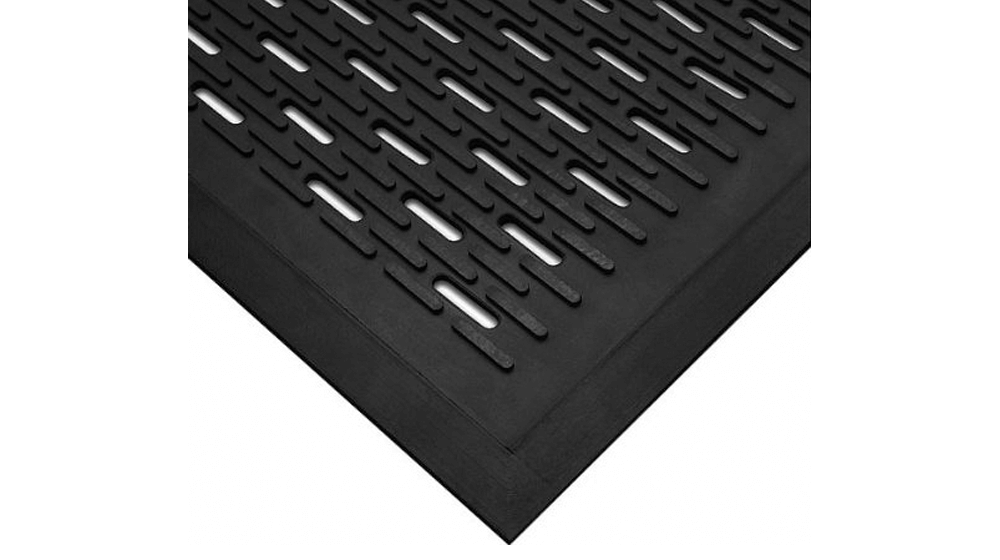 Wearwell - 224.516x3x5GRSLTBK Natural Rubber 224 UpFront Scraper Grease Resistant Mat