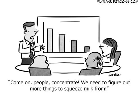 time for innovation business cartoon
