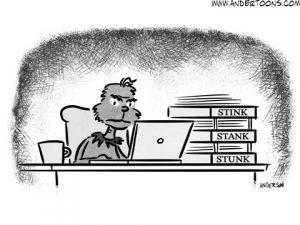 grinch business cartoon