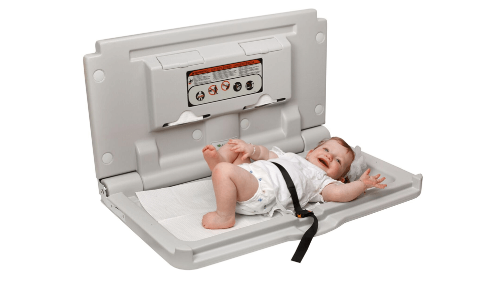 Alpine Industries Wall Mounted Baby Changing Station