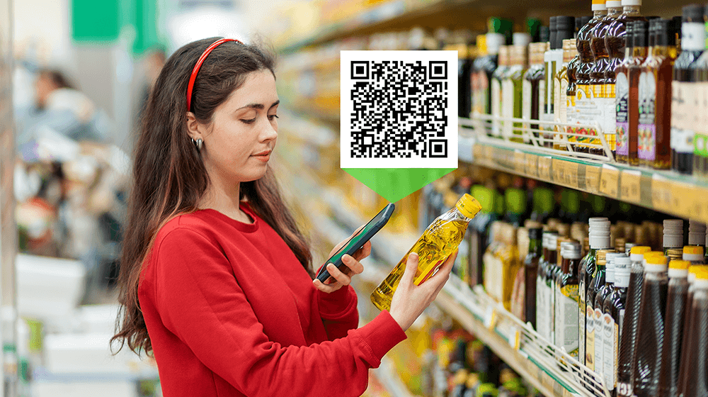 qr code on product label