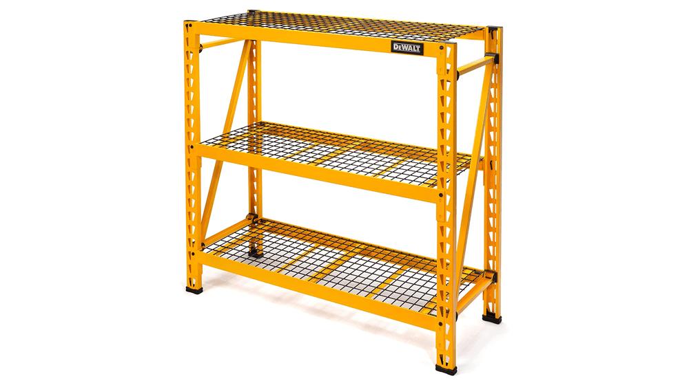 DEWALT 4-Foot Tall, 3 Shelf Steel Wire Deck Industrial Storage Rack