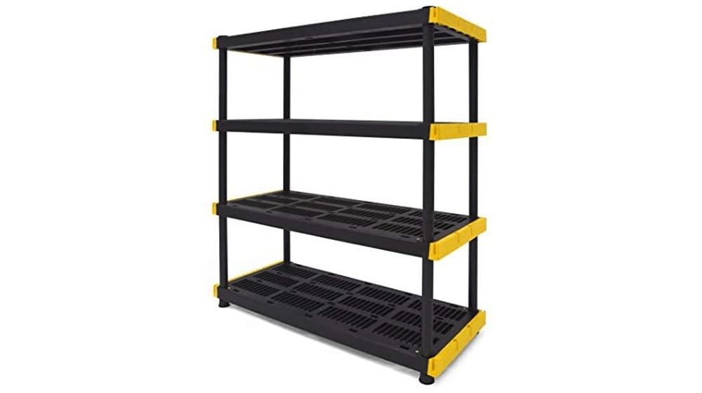 Original Black & Yellow 4-Tier Storage Shelving Unit