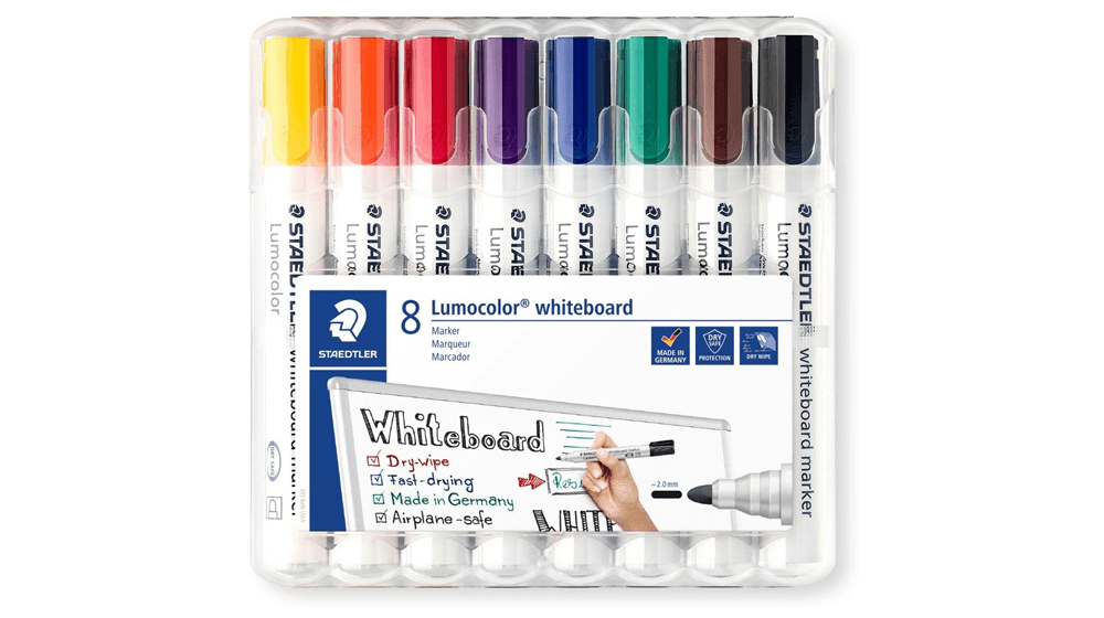 Staedtler 351 WP8 2 mm Lumocolor Bullet Tip Whiteboard Marker (1)