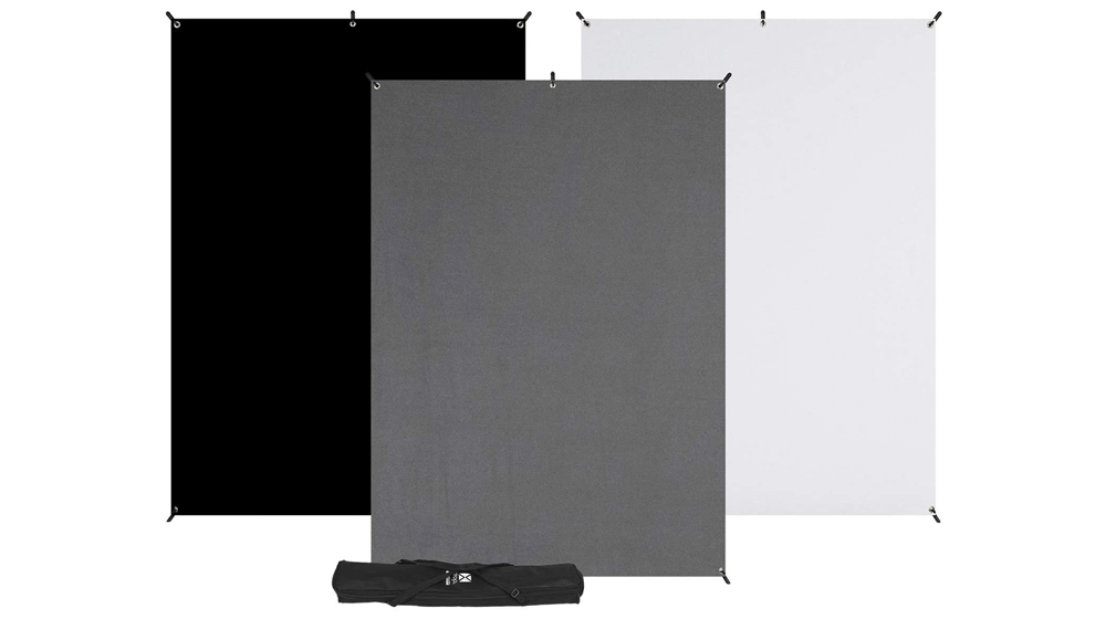 Westcott X-Drop 3-Pack Backdrop Kit (5 Inch x 7 Inch ) Quick Assemble