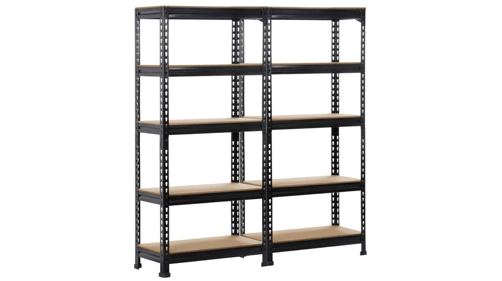 Yaheetech 5-Shelf Units Storage Rack Corner Shelf Organization Utility Rack Multipurpose Shelf Display