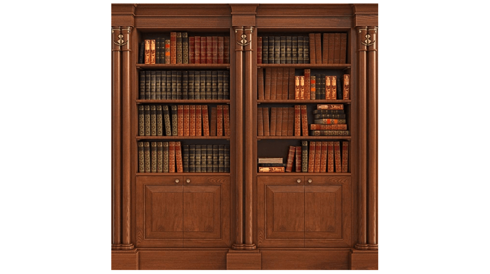 Yeele Bookcase Backdrop 5x5ft , 1.5 X 1.5M Wooden Bookshelf