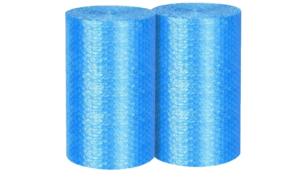2-Pack Blue Bubble Cushioning Wrap Rolls