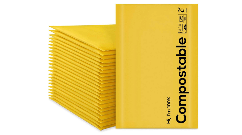 6x10 100% Biodegradable Bubble Mailers