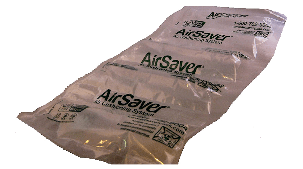 "Airsaver Pack 175 Pre-Filled 4"" x 8"" Green Eco Friendly Cushioning Air Pillows"