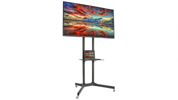 VIVO Mobile TV Cart for 32-65 inch LCD LED Plasma Flat Panel Screen TVs up to 110 lbs