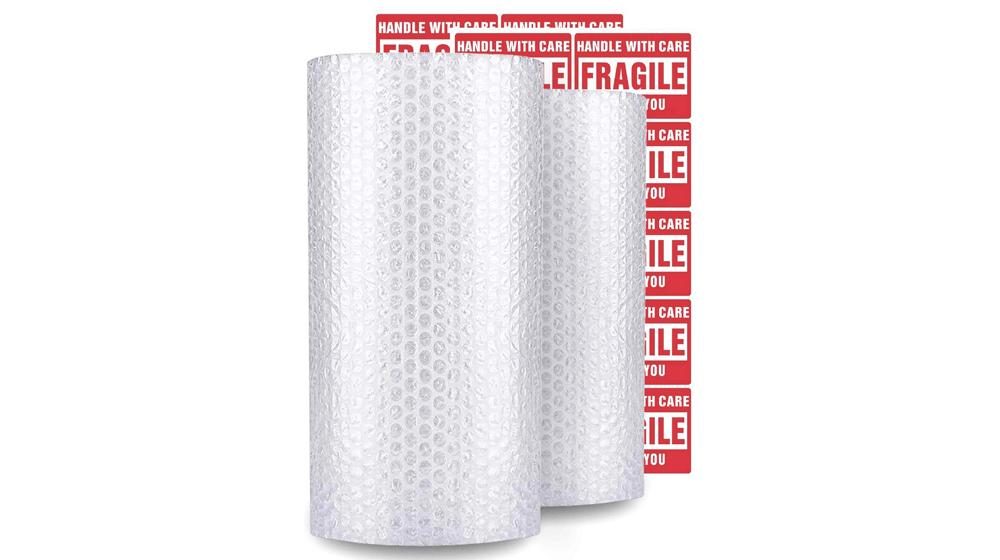 enKo (2 Pack) 12 inch x 72 feet Bubble Cushioning Wrap Roll