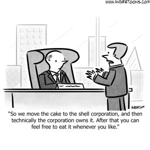 office birthday party cartoon