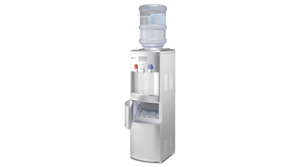 COSTWAY 2-in-1 Water Cooler Dispenser with Built-in Ice Maker