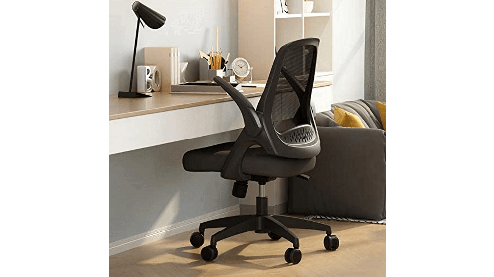 Hbada Office Task Desk Chair Swivel Home Comfort Chairs with Flip-up Arms and Adjustable Height