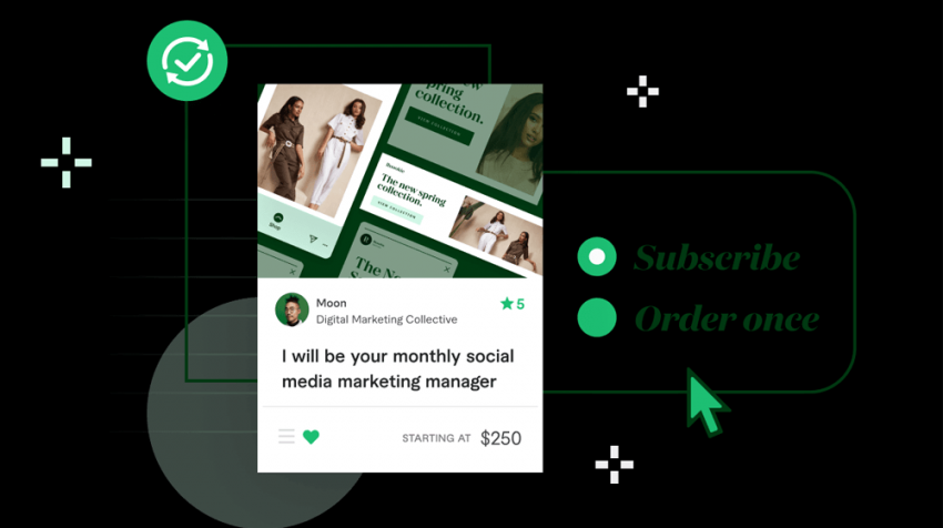 fiverr launches subscription services