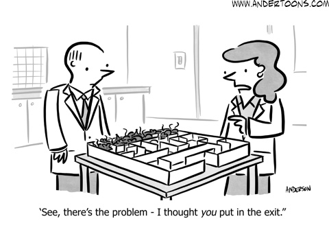 team communication breakdown cartoon