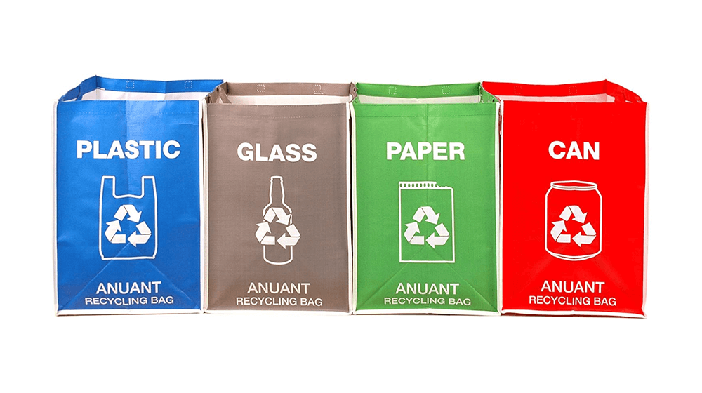 ANUANT Separate Recycling Waste Bin Bags for Kitchen Office in Home - Recycle Garbage Trash Sorting Bins