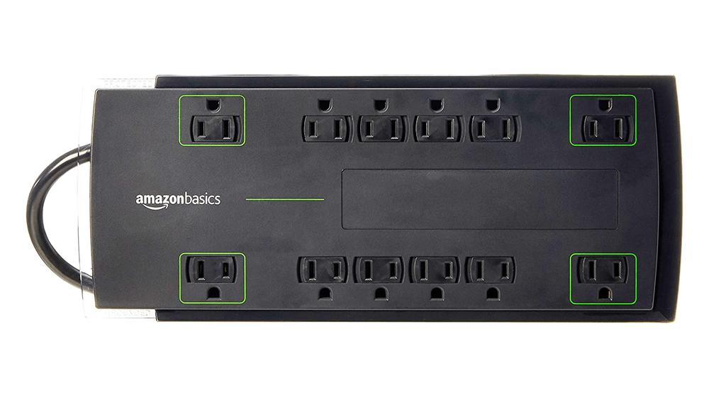 Amazon Basics 12-Outlet Power Strip Surge Protector