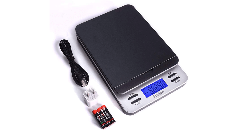 Fuzion Shipping Scale, Accurate Digital Postal Scale 86 lb/0.1 oz with Hold and Tare Function